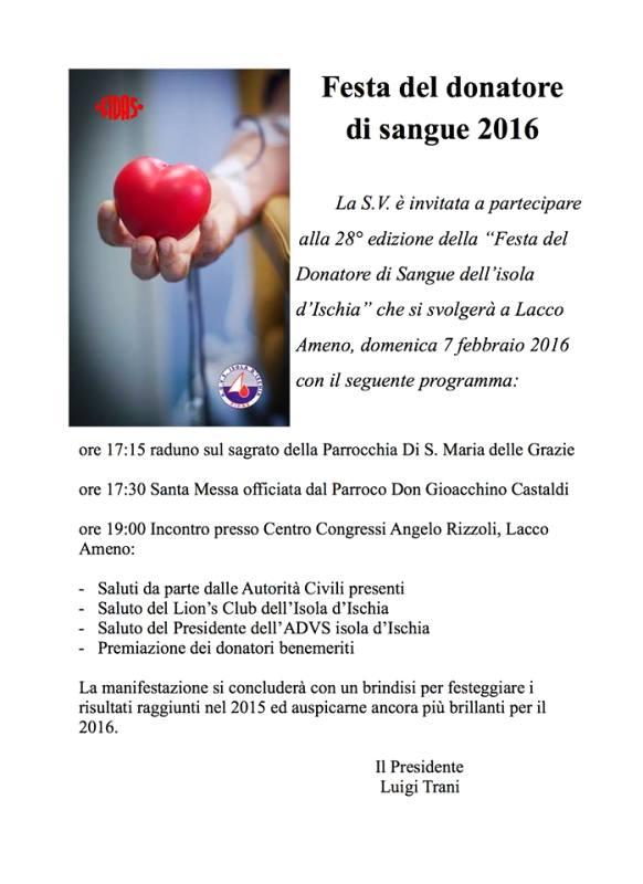 festa del del donatore di sangue
